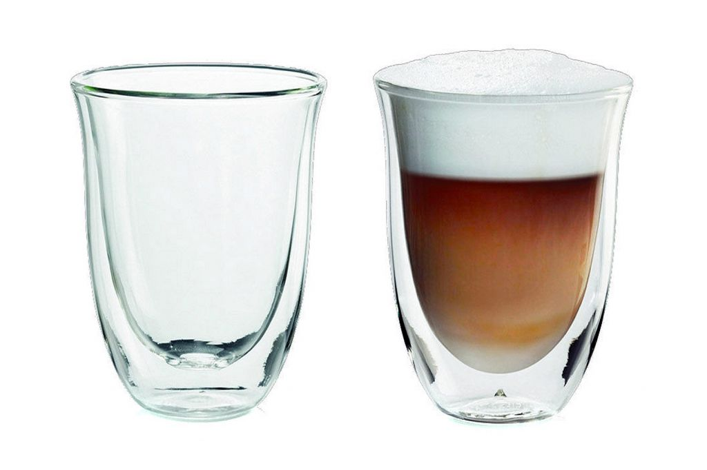 delonghi 2 latte macchiato glasses 5513214611. Black Bedroom Furniture Sets. Home Design Ideas