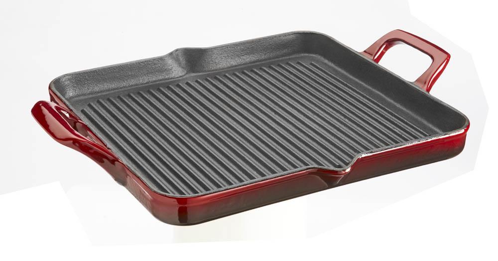 La cuisine elysee grill pan ruby for La cuisine 29 x 26cm cast iron grill pan