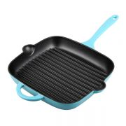 Denby 25cm Cast Iron Griddle Pan - Azure